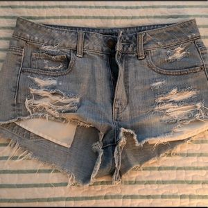 High waisted American eagle jean shorts.